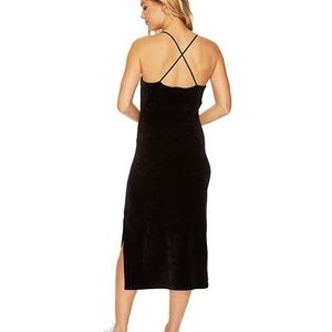 Juicy Couture Stretch Velour Cross-Back Slip Dress